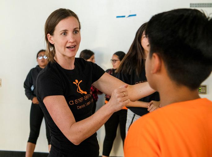 Jenn Oliver teaching students